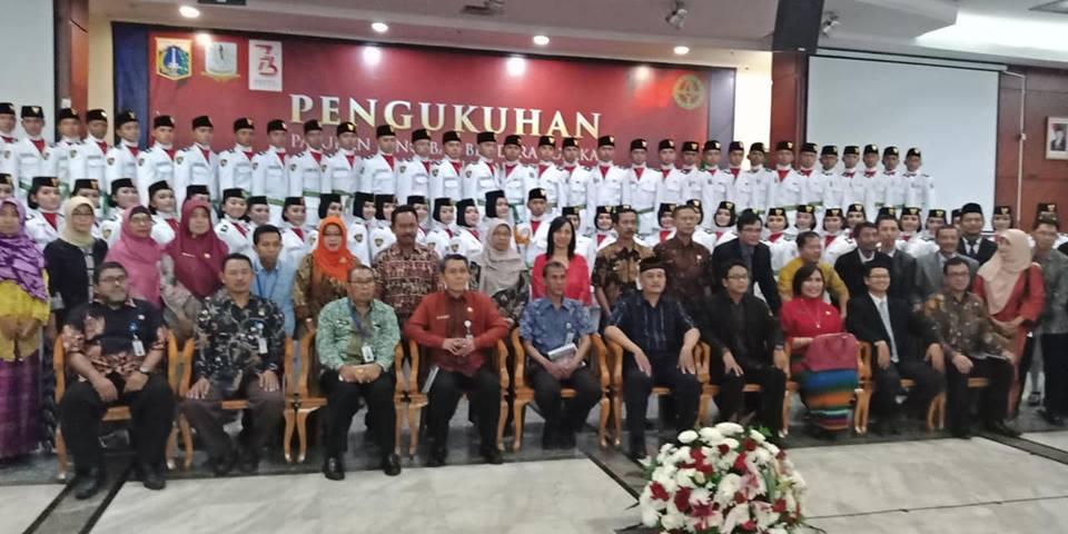 Pengukuhan Paskibraka di Walikota Jakarta Timur